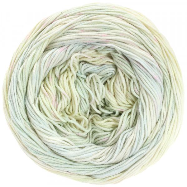 Lana Grossa Aruba 006 Pastellgrün/-gelb/Ecru 100g