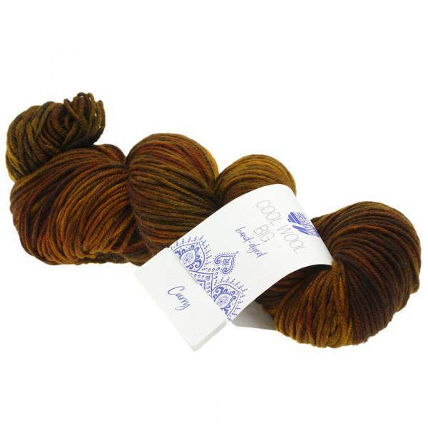 Lana Grossa Cool Wool Big hand-dyed 203 Dunkel-/Graubraun/Gelb/Umbra/Nougat 100g