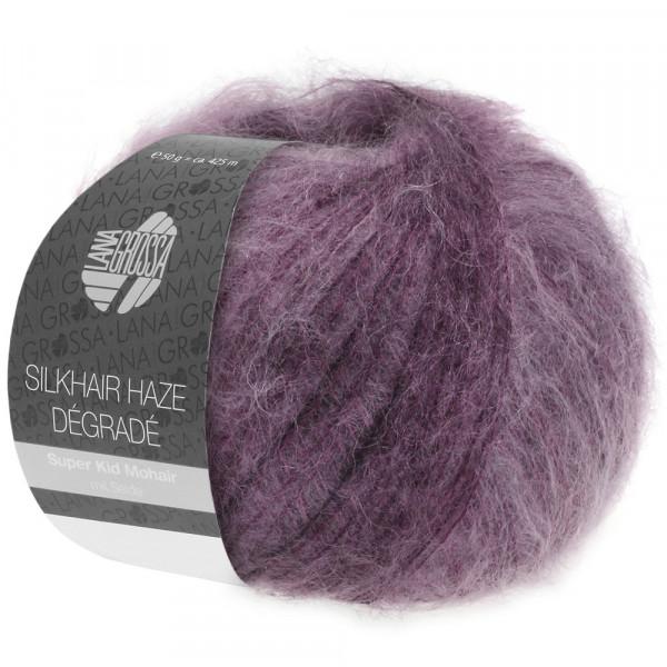 Lana Grossa Silkhair Haze Degrade 1104 Blauviolett/Aubergine 50g