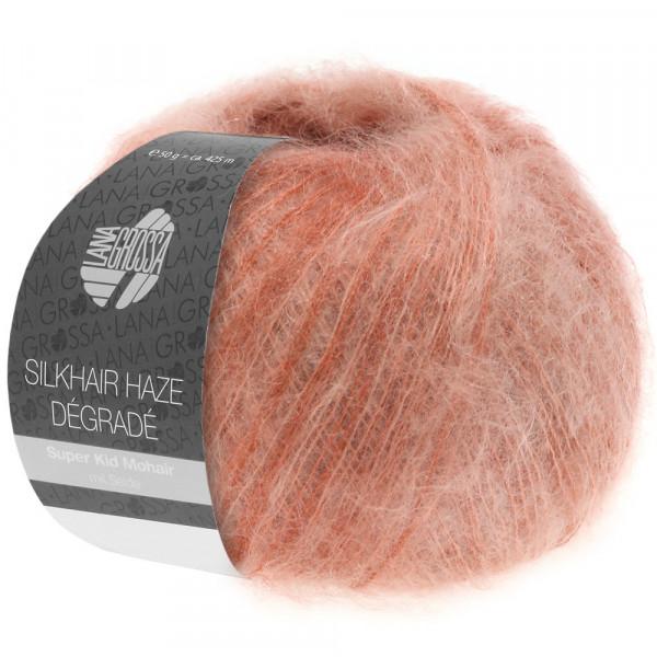 Lana Grossa Silkhair Haze Degrade 1102 Lachs/Terracotta 50g