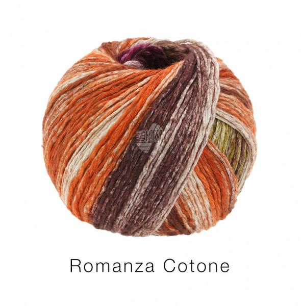 Lana Grossa Romanza Cotone 003 Senfgelb/Fuchsia/Rost/Natur/Mokka 50g