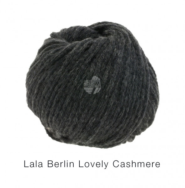 Lana Grossa lala BERLIN LOVELY CASHMERE 0006 Anthrazit 25g