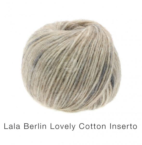 Lana Grossa Lala Berlin Lovely Cotton Inserto 102 Beige/Anthrazit 50g