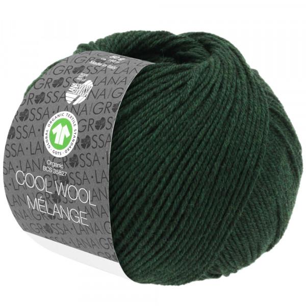 Lana Grossa Cool Wool 2000 Mélange GOTS 106 Tanne meliert50g