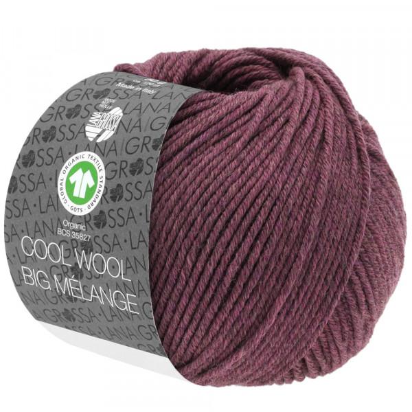 Lana Grossa Cool Wool Big Mélange GOTS 218 Beere Meliert 50g