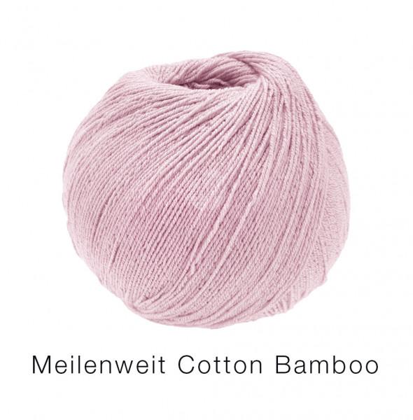 Lana Grossa Meilenweit 100 Cotton Bamboo Uni 001 Rosa 100g