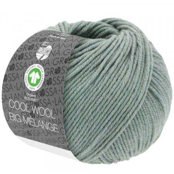Lana Grossa Cool Wool Big Mélange GOTS 209 Grüngrau Meliert 50g