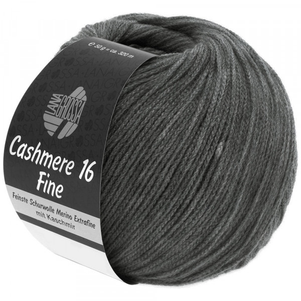 Lana Grossa Cashmere 16 Fine 016 Dunkelgrau 50g